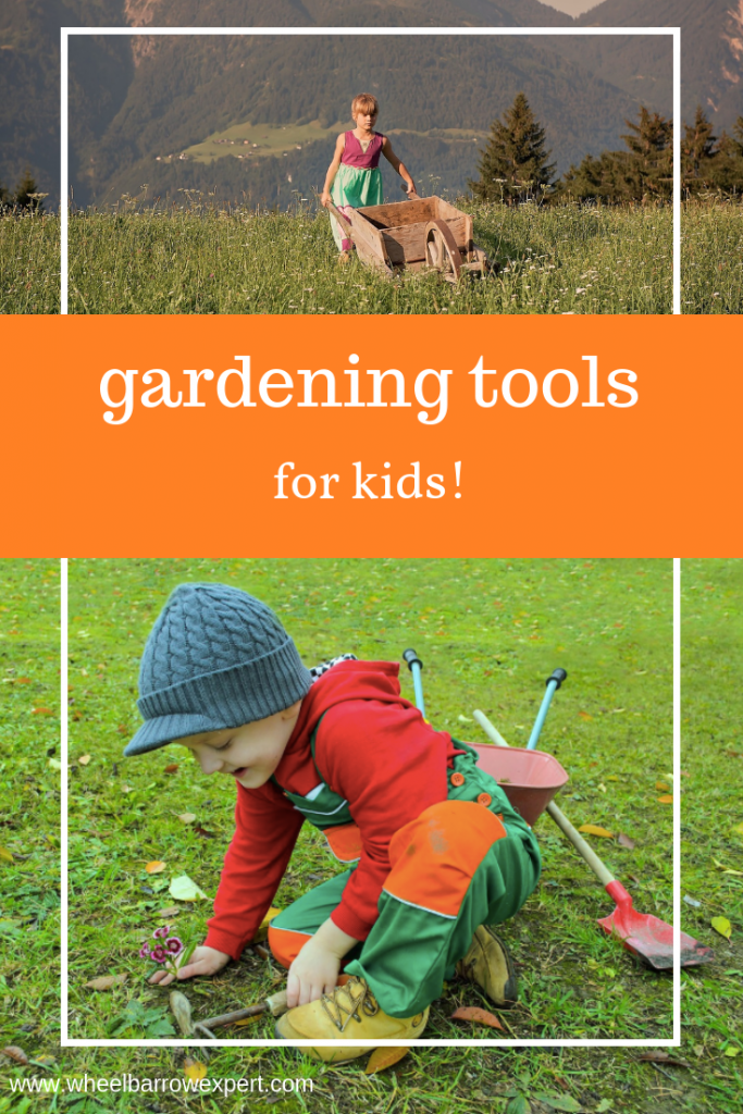 "A guide to choosing kids gardening tools. A children's garden tool set will fit your child's hands and be much more effective than adult-sized tools. Plastic toy garden tools won't work in the garden, but they can be fun to play with in a sandbox or loose dirt, and just might inspire a wee one to want to do some ""real"" gardening."